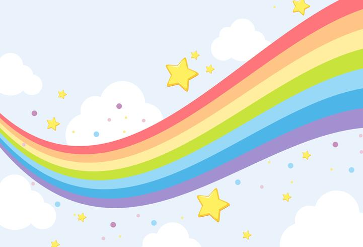 Sky rainbow background template